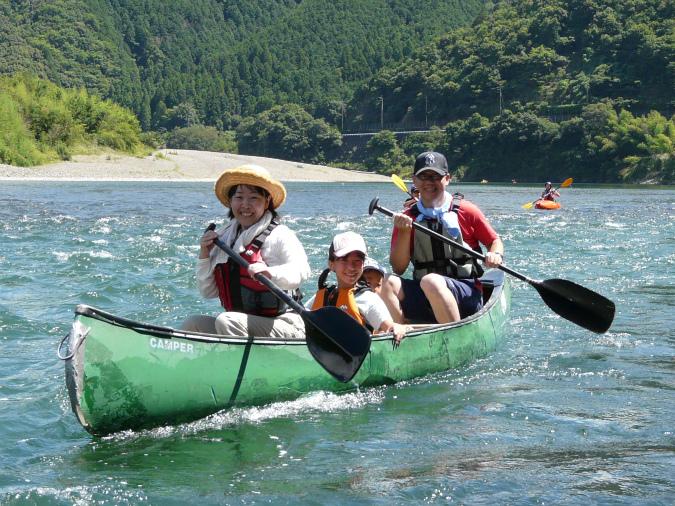 四万十川でカヌーツーリング!